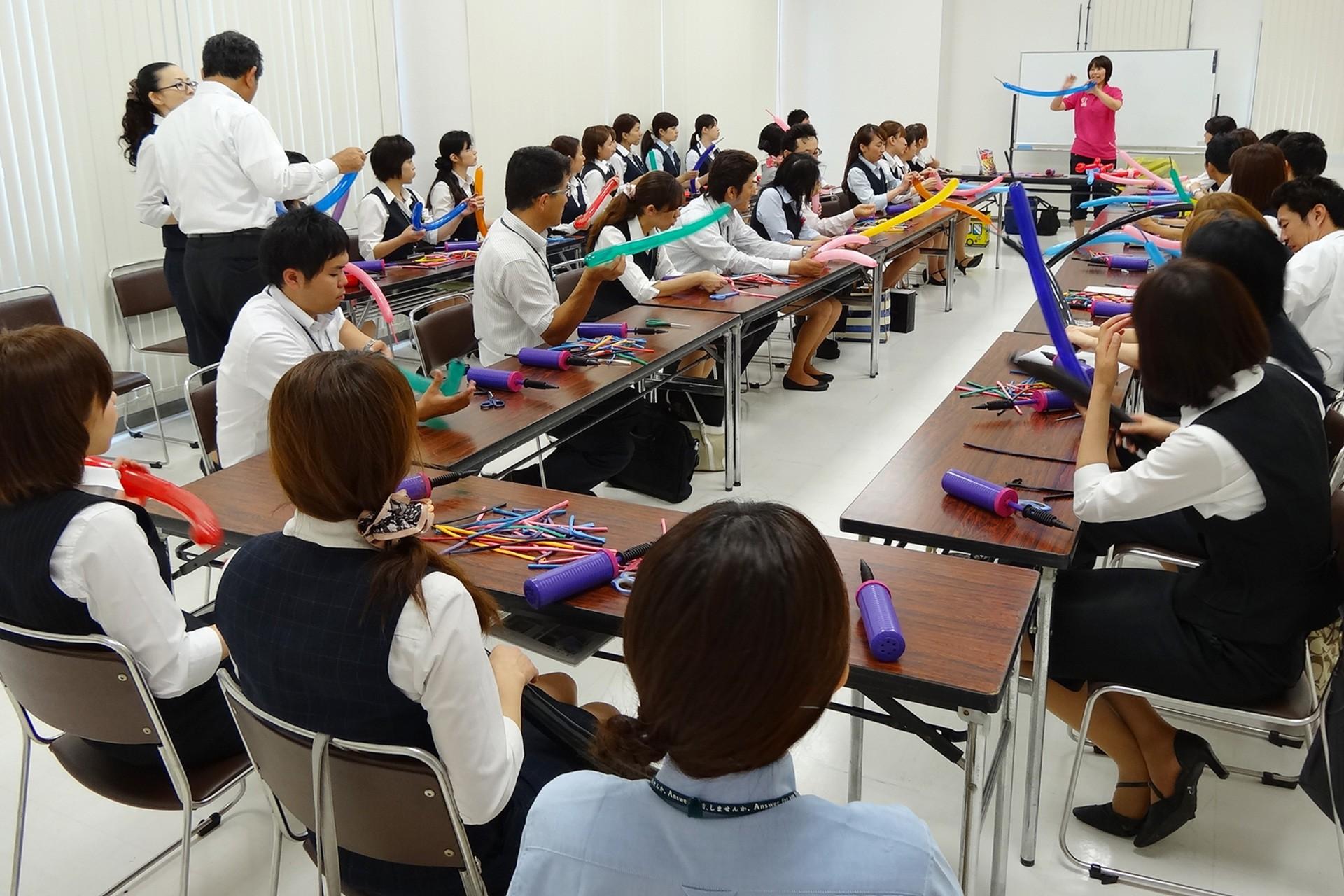 企業向けのバルーン教室