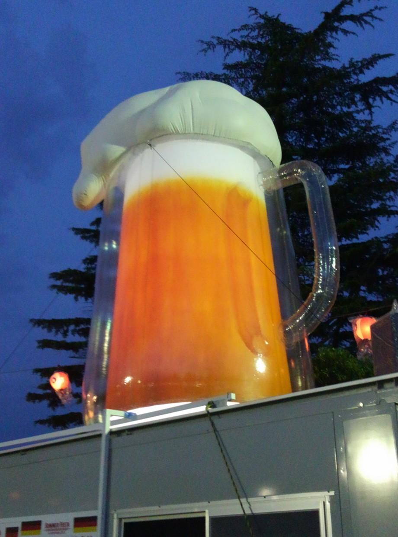 ビールインフレータブルバルーン